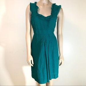 Moulinette Soeurs Green dot silk cotton dress